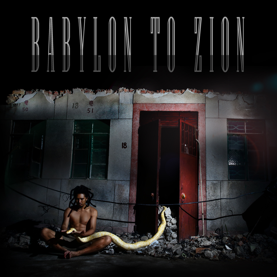Babylon To Zion shoot with albino python